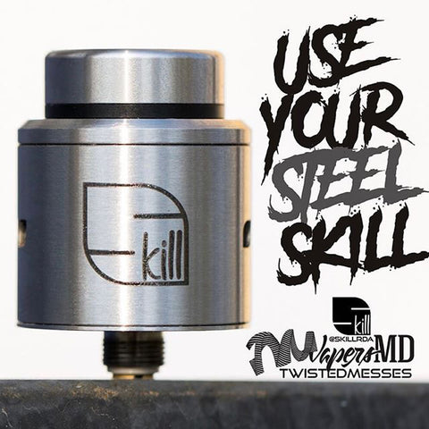 Skill Stainless Steel RDA By Vapers MD & Twisted Messes