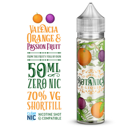 Valencia Orange And Passion Fruit (Botanics) 50ml 0mg