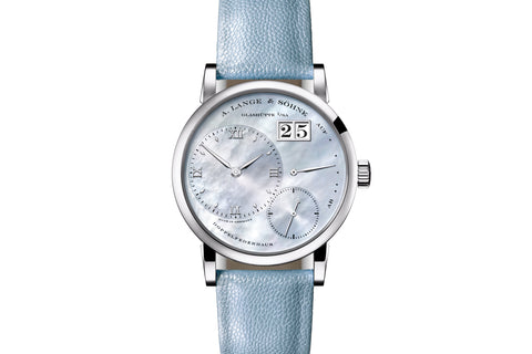 A. Lange & Sohne Little Lange 1 - 18k White Gold on Blue Leather - Pearl Dial