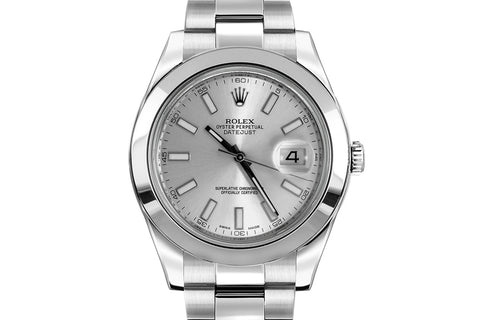 Rolex Datejust II Stainless Steel - Silver Dial w/ Luminous Markers