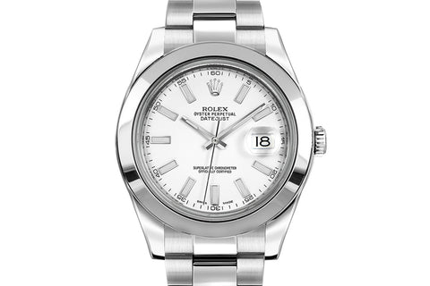 Rolex Datejust II Stainless Steel - White Dial w/ Luminous Markers