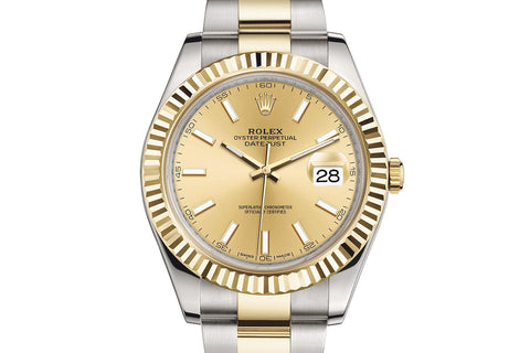 Rolex Datejust II Stainless Steel & 18K Gold - Champagne Dial w/ Luminous Markers
