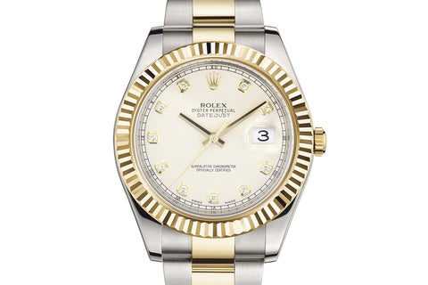 Rolex Datejust II Stainless Steel & 18K Gold - Ivory Dial w/ Diamond Markers