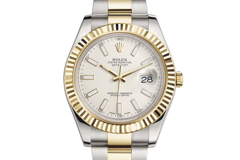 Rolex Datejust II Stainless Steel & 18K Gold - Ivory Dial w/ Luminous Markers
