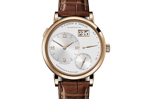 A. Lange & Sohne Grande Lange 1 - 18k Rose Gold on Brown Leather - Silver Dial