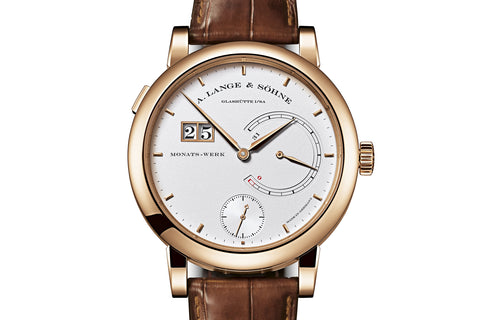 A. Lange & Sohne Lange 31 - 18k Rose Gold on Brown Leather - Silver Dial