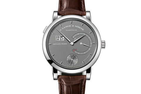 A. Lange & Sohne Lange 31 - 18k White Gold on Brown Leather - Grey Dial