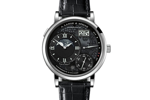A. Lange & Sohne Grande Lange 1 Moonphase Lumen - Platinum on Black Leather - Skeleton Dial