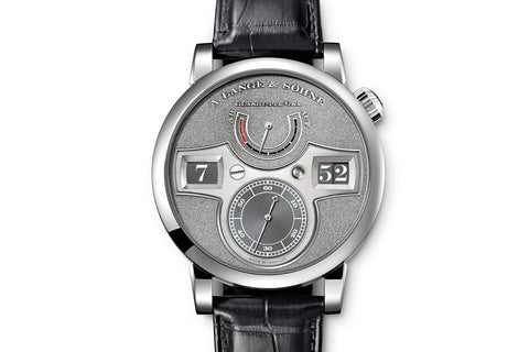 A. Lange & Sohne Zeitwerk Handwerkskunst - Platinum on Black Leather - Grey Dial