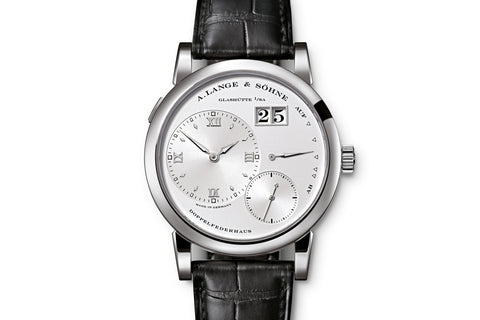 A. Lange & Sohne Lange 1 - 18k White Gold on Black Leather - Silver Dial