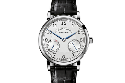 A. Lange & Sohne 1815 Up/Down - 18k White Gold on Black Leather - Silver Dial