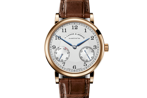 A. Lange & Sohne 1815 Up/Down - 18k Rose Gold on Brown Leather - Silver Dial
