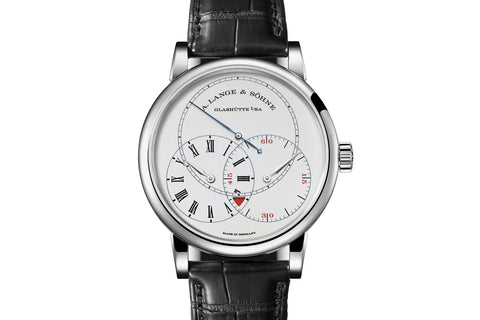 A. Lange & Sohne Richard Lange Jumping Seconds - Platinum on Black Leather - Silver Dial