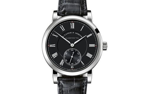 "A. Lange & Sohne Richard Lange ""Pour le Mérite"" - 18k White Gold on Black Leather - Black Dial"