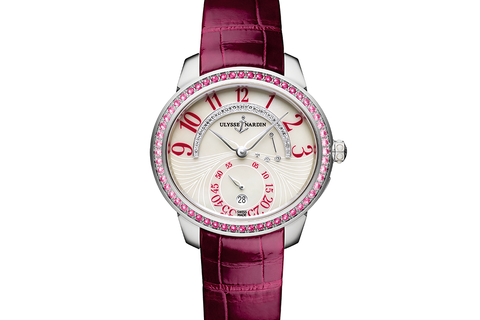 Ulysse Nardin Jade - 18k White Gold & Ruby on Ruby Leather - Pearl Dial