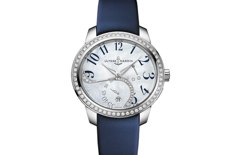 Ulysse Nardin Jade - Stainless Steel & Diamond on Blue Satin - Pearl Dial