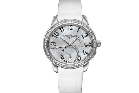 Ulysse Nardin Jade - Stainless Steel & Diamond on White Leather - Pearl Dial