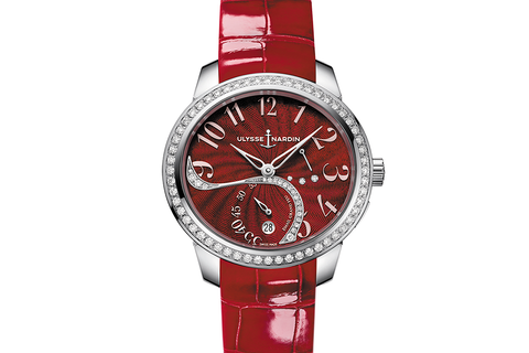 Ulysse Nardin Jade - Stainless Steel & Diamond on Red Leather - Red Dial
