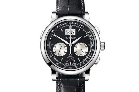 A. Lange & Sohne Datograph Up/Down - Platinum on Black Leather - Black Dial