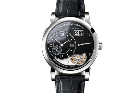 A. Lange & Sohne Lange 1 Tourbillon Handwerkskunst - Platinum on Black Leather - Black Dial