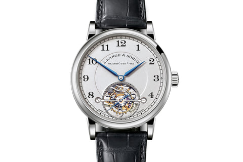A. Lange & Sohne 1815 Tourbillon - Platinum on Black Leather - Silver Dial