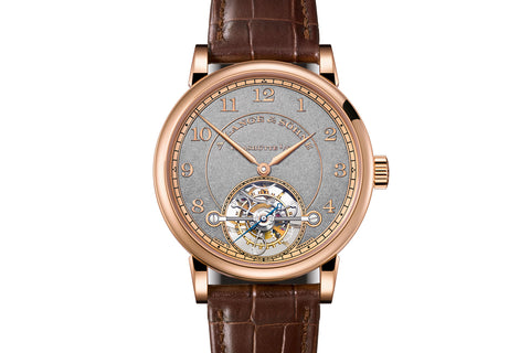 A. Lange & Sohne 1815 Tourbillon Handwerkskunst - 18k Rose Gold on Brown Leather - Grey Dial