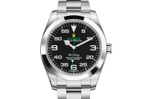 Rolex Oyster Perpetual Air-King Stainless Steel on Bracelet - Black Dial