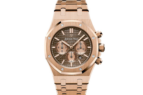 Audemars Piguet Royal Oak Chronograph 41mm 18K Rose Gold on Bracelet - Brown Dial