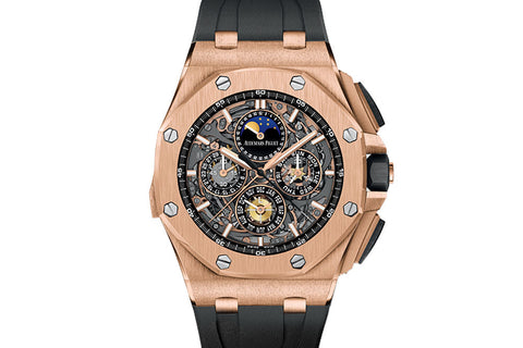 Audemars Piguet Royal Oak Offshore Chronograph Grande Complications 44mm 18K Rose Gold on Black Rubber - Black Dial