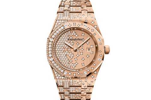 Audemars Piguet Royal Oak Quartz 33mm 18K Rose Gold & Diamond on Bracelet - 18K Rose Gold & Diamond Dial