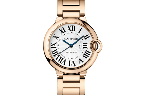 Cartier Ballon Bleu - Rose Gold on Bracelet - Silver Dial (36mm)