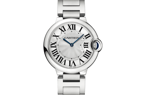 Cartier Ballon Bleu - Stainless Steel on Bracelet - Silver Dial (36mm)