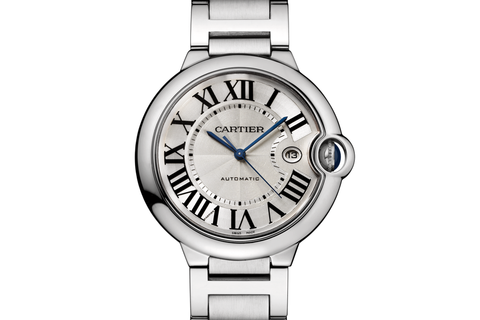 Cartier Ballon Bleu - Stainless Steel on Bracelet - Silver Dial (42mm)