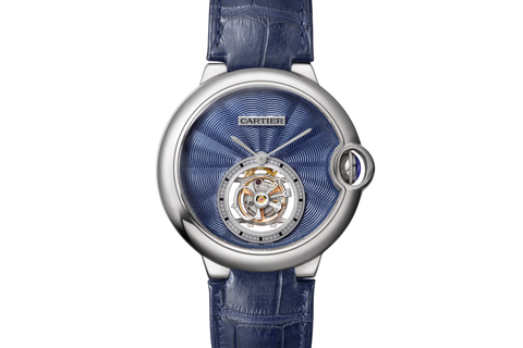 Cartier Ballon Bleu Flying Tourbillon - White Gold on Blue Leather - Blue Dial