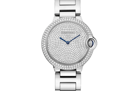 Cartier Ballon Bleu - White Gold & Diamond on Bracelet - Diamond Dial