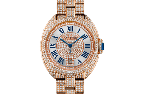 Cartier Clé de Cartier - Rose Gold & Diamond on Bracelet - Silver Dial (40mm)