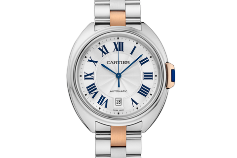Cartier Clé de Cartier - Stainless Steel & Rose Gold on Bracelet - Silver Dial (40mm)