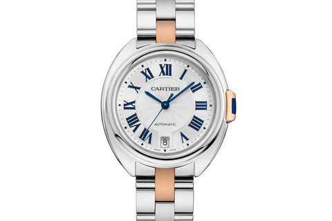 Cartier Clé de Cartier - Stainless Steel & Rose Gold on Bracelet - Silver Dial (35mm)