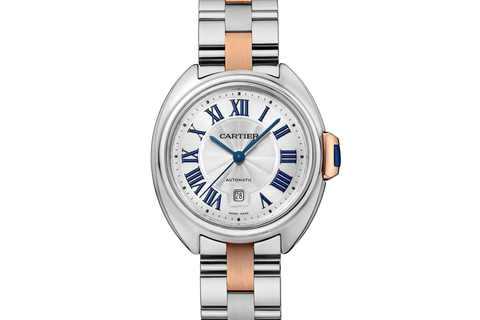 Cartier Clé de Cartier - Stainless Steel & Rose Gold on Bracelet - Silver Dial (31mm)