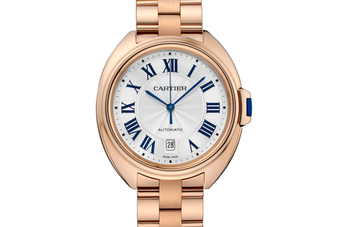 Cartier Clé de Cartier - Rose Gold on Bracelet - Silver Dial (40mm)