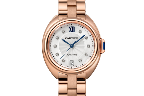 Cartier Clé de Cartier - Rose Gold on Bracelet - Silver Dial (35mm)