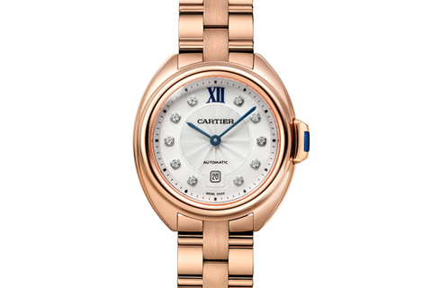 Cartier Clé de Cartier - Rose Gold on Bracelet - Silver Dial (31mm)