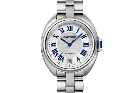 Cartier Clé de Cartier - Stainless Steel on Bracelet - Silver Dial (35mm)