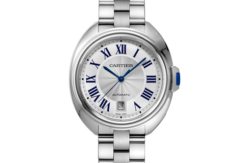 Cartier Clé de Cartier - Stainless Steel on Bracelet - Silver Dial (40mm)