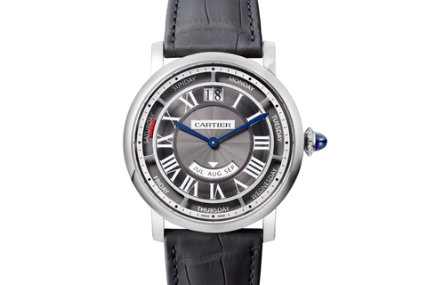 Cartier Calibre de Cartier Diver Blue - Stainless Steel & Rose Gold on Blue Leather - Blue Dial