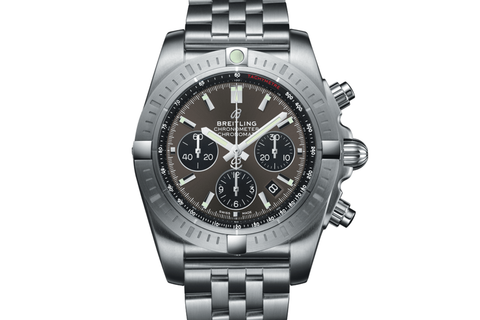 Breitling Chronomat B01 Chronograph 44 - Stainless Steel on Bracelet - Blackeye Grey Dial