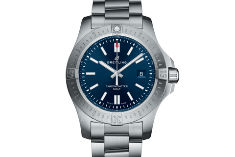 Breitling Chronomat Colt Automatic 44 - Stainless Steel on Bracelet - Blue Dial