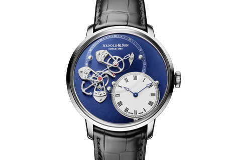Arnold & Son TES Blue Tourbillon - 18k White Gold on Blue Leather - Blue Dial