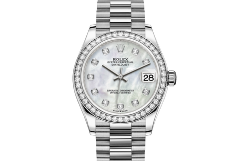 Rolex Datejust 31 18k White Gold Diamond Bezel on Jubilee Bracelet - Pearl Diamond Dial