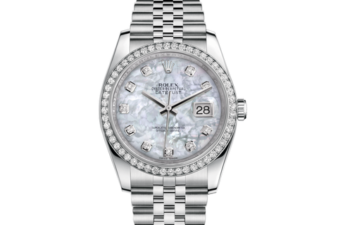 Rolex Datejust 36 Stainless Steel Diamond Bezel on Jubilee Bracelet - Pearl Diamond Dial
